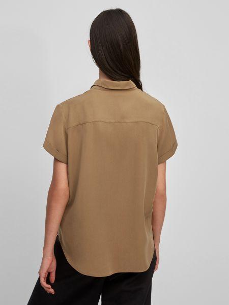 Коричневая блузка с воротником-стойка Marc O'polo Denim
