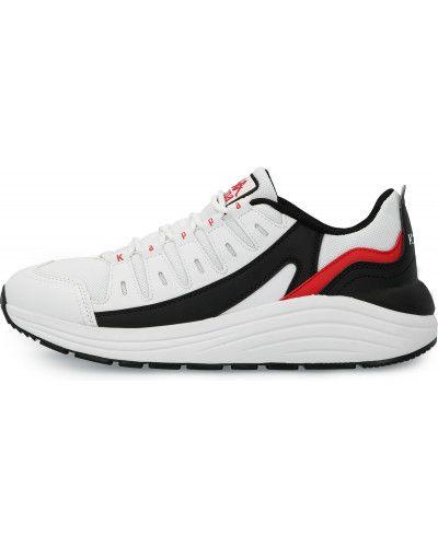 Кожаные белые кроссовки на шнуровке Kappa