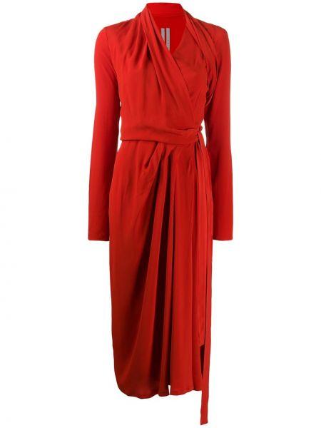 Платье с запахом с V-образным вырезом Rick Owens