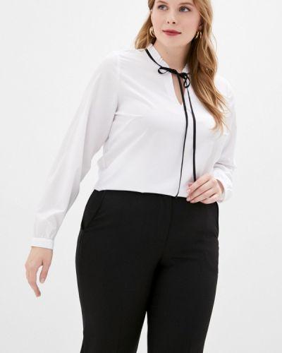 С рукавами белая блузка Balsako