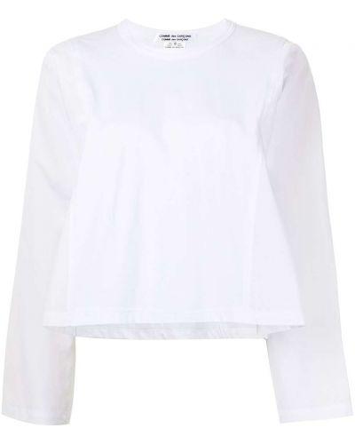 Хлопковый белый топ с длинными рукавами Comme Des Garçons Comme Des Garçons