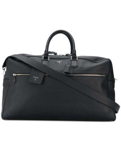 Дорожная сумка с логотипом - черная Serapian