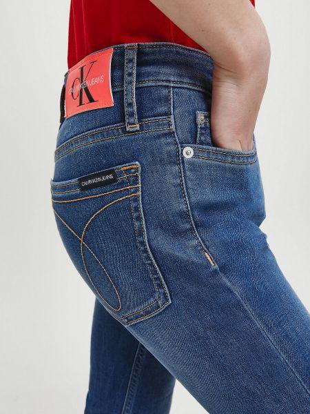 Кожаные джинсы - голубые Calvin Klein