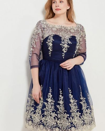 Синее платье Chi Chi London