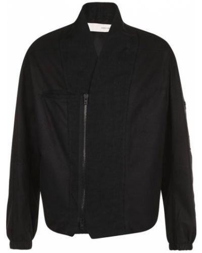 Кожаная куртка черная льняная Isabel Benenato