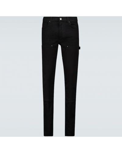 Джинсовые зауженные джинсы - черные Amiri