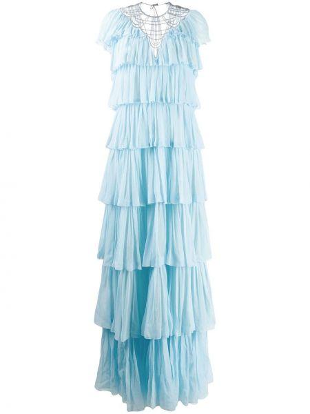Вечернее платье короткое - синее Alberta Ferretti