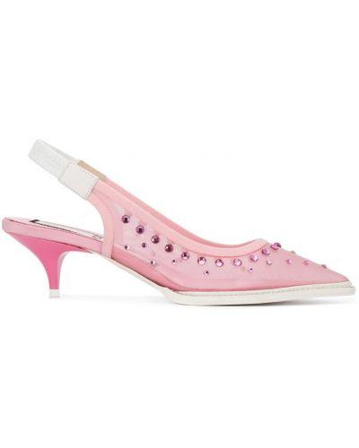 Туфли на каблуке на низком каблуке с ремешком N21