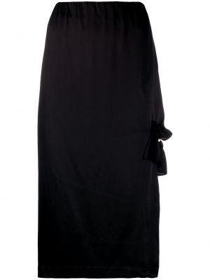 Черная юбка на молнии с оборками с вырезом Simone Rocha