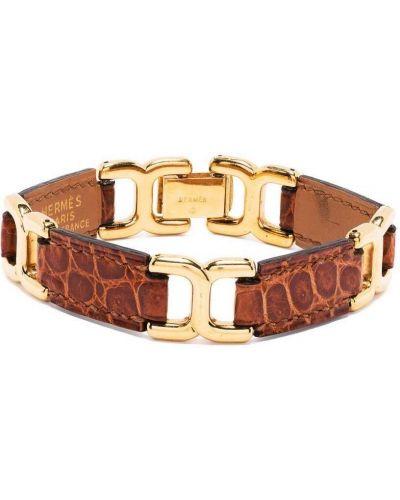 Brązowa złota bransoletka łańcuch Hermes
