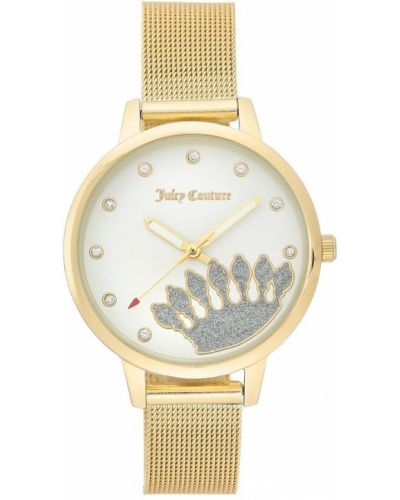 Biały złoty zegarek mechaniczny kwarc Juicy Couture