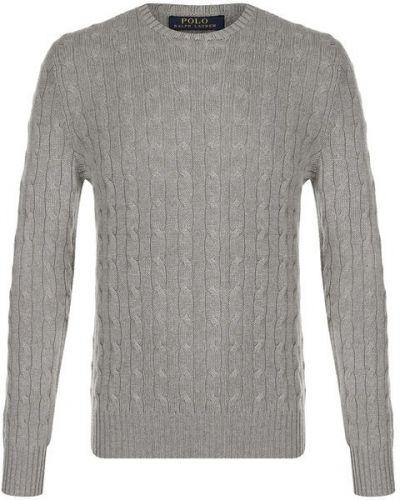 Серый свитер кашемировый Polo Ralph Lauren