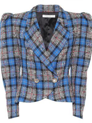 Шерстяная серая куртка Alessandra Rich