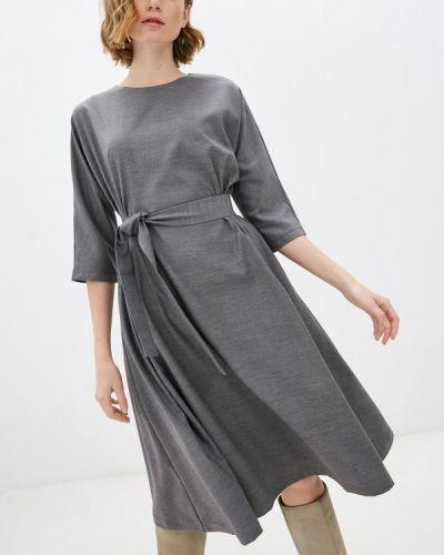 Базовое прямое серое платье Base Forms