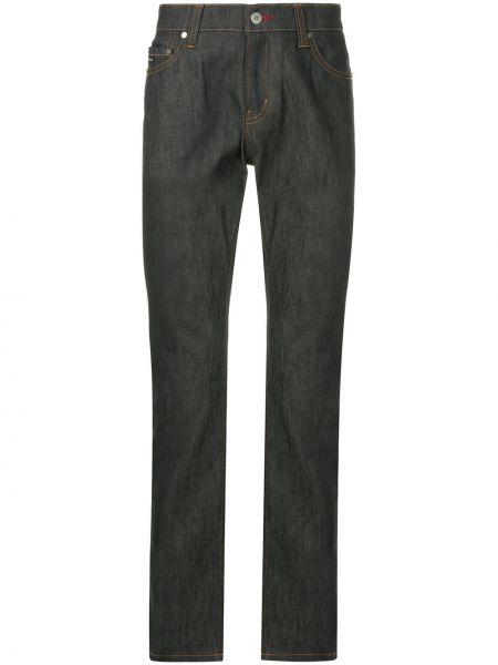 Niebieskie jeansy bawełniane z paskiem Loveless
