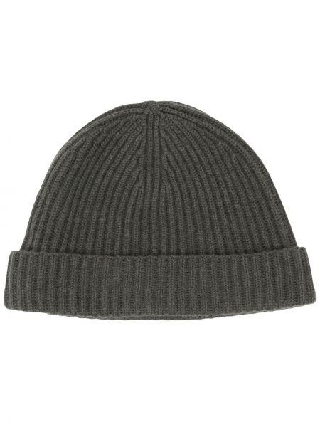 Zielona z kaszmiru czapka N.peal