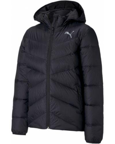 Брендовая черная пуховая куртка Puma