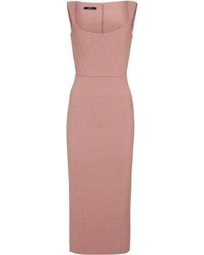 Różowa sukienka midi Alex Perry