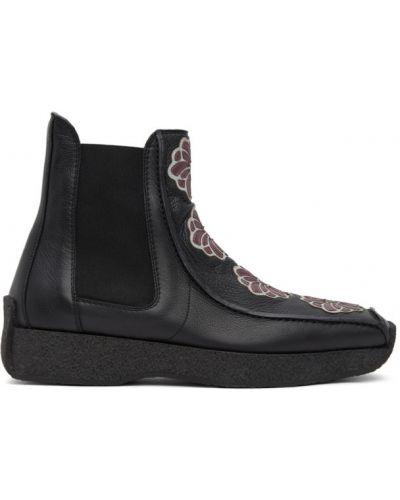 Кожаные черные ботинки челси квадратные Kiko Kostadinov