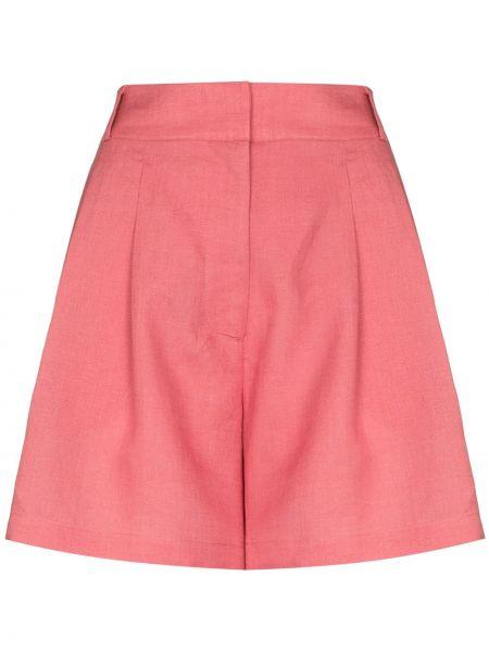 Розовые с завышенной талией шорты с потайной застежкой Asceno