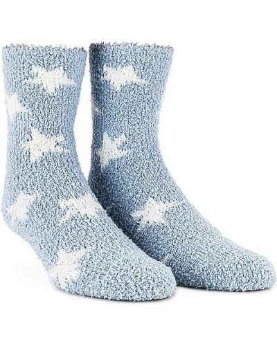 Синие вязаные носки высокие Splendid