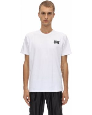 Biały t-shirt bawełniany Ufu - Used Future
