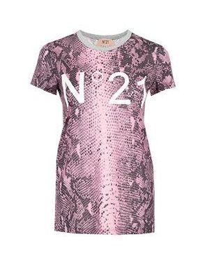 Футбольная розовая футболка No.21