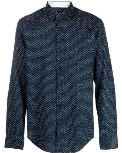 Синяя классическая рубашка с воротником с манжетами Boss Hugo Boss