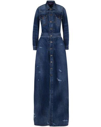 Синее платье хлопковое Ralph Lauren