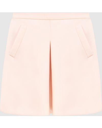 Светло-розовая шелковая юбка мини Lanvin