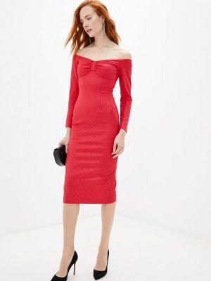 Вечернее платье красный осеннее Ruxara