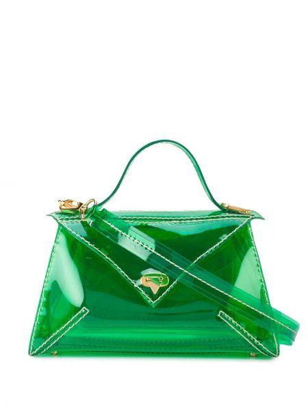 Зеленая сумка-тоут круглая Tyler Ellis