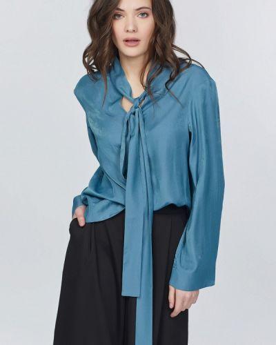 Синяя блузка с бантом Fly