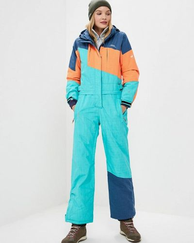 Брючный комбинезон горнолыжный бирюзовый Snow Headquarter