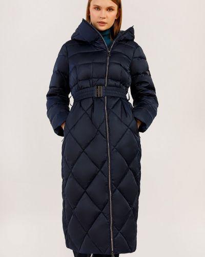 Пальто с поясом - синее Finn Flare