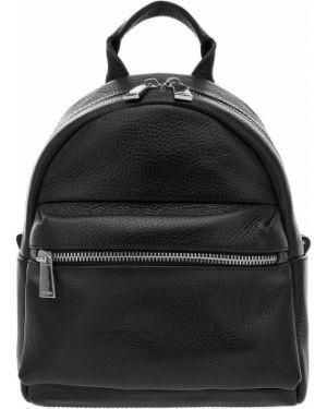 Кожаный рюкзак черный маленький Afina