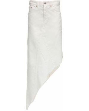 Юбка миди джинсовая асимметричная Mm6 Maison Margiela