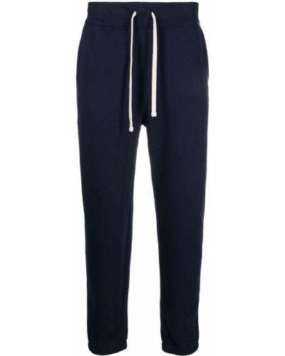 Joggery z haftem - niebieskie Polo Ralph Lauren