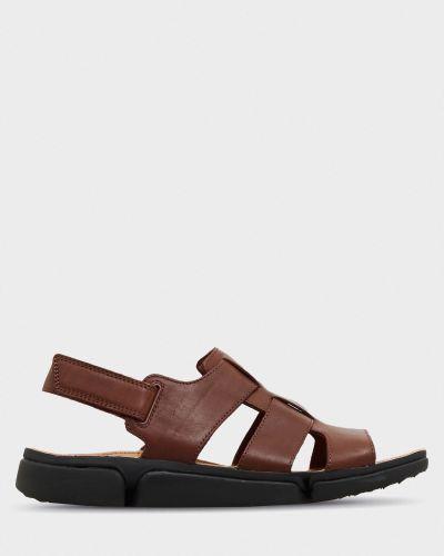 Кожаные сандалии - коричневые Clarks