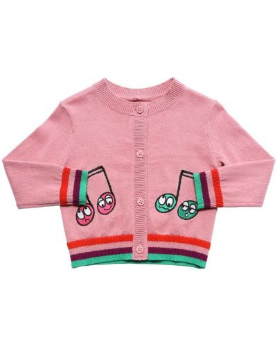 Kardigan z haftem Stella Mccartney Kids