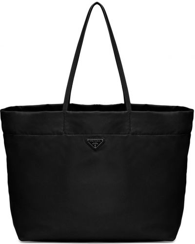 Czarna torebka skórzana Prada