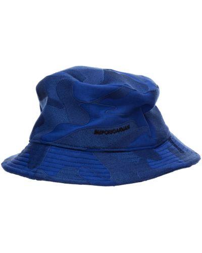 Niebieski kapelusz Emporio Armani