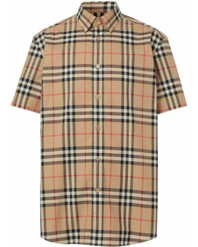 Klasyczna beżowa koszula krótki rękaw Burberry