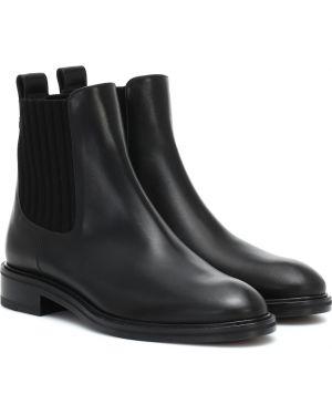 Czarne ankle boots skorzane Loro Piana