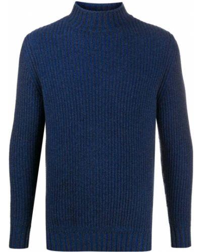 С рукавами кашемировый синий джемпер с манжетами N.peal