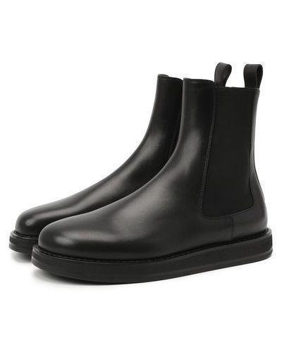 Кожаные кожаные ботинки с подкладкой The Row