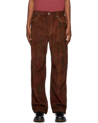 Прямые серебряные прямые брюки с поясом с заплатками Phipps