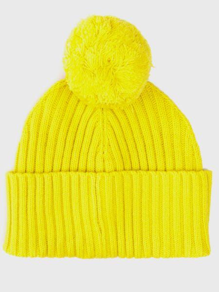 Желтая трикотажная шапка с помпоном Tommy Hilfiger