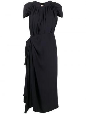 Черное платье асимметричного кроя Marni