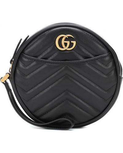Torba sprzęgło okrągły czarny Gucci